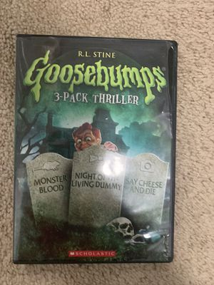 Goosebumps 3pk thriller dvd for Sale in Raleigh, NC