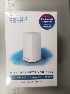 Linksys Velop Dual Band AC1200 Mesh WiFi System 1 Pack Expandable! Coverage up to 1.500 Sq Ft Router Replacement for Sale in Virginia Beach, VA