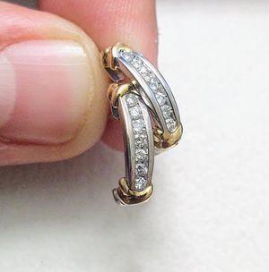 10K Gold Genuine Diamond Earrings for Sale in Lake Mary, FL