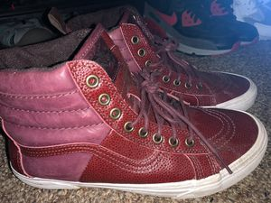 Vans off the wall Maroon Mens size 7.5 Women 9 for Sale in Tomball, TX