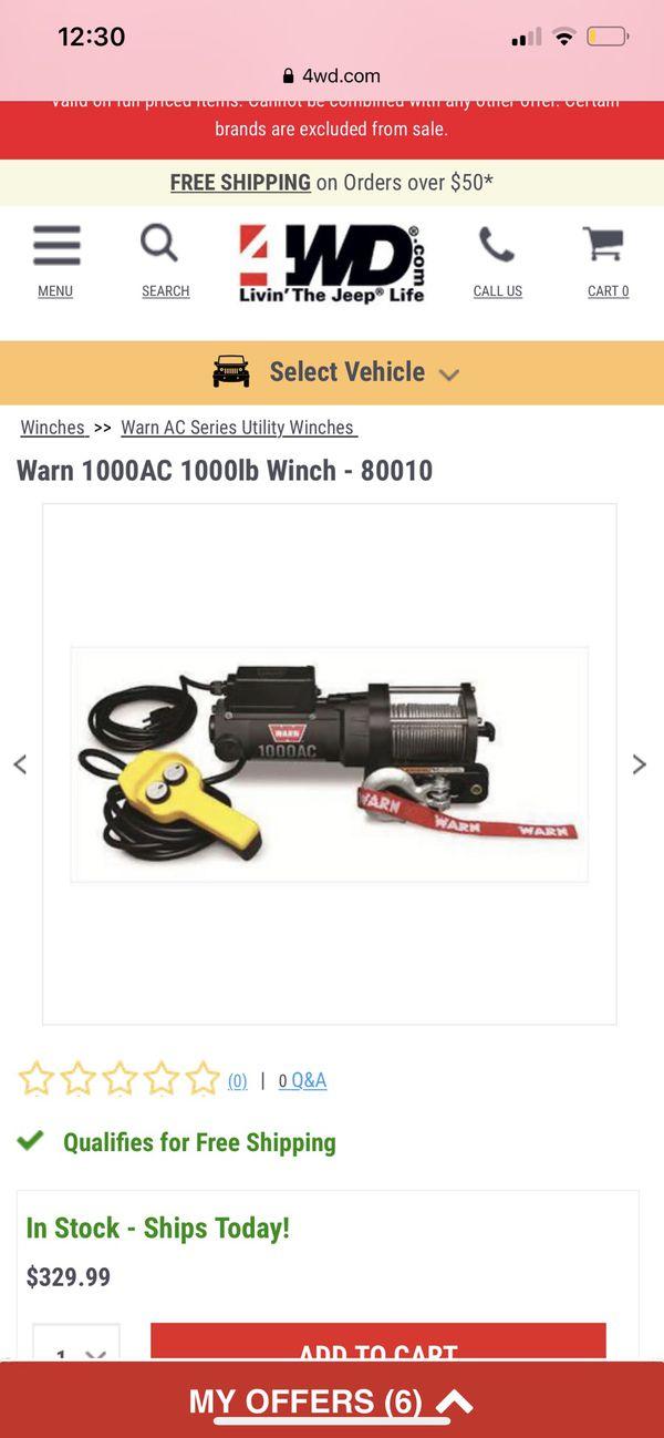Warn1000lb electric winch