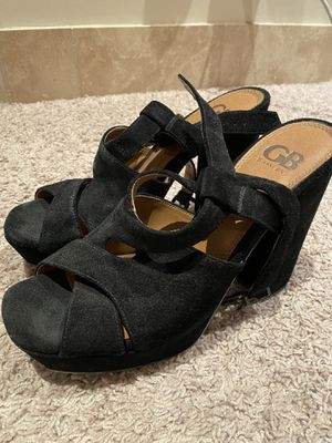 Gianni Bini Black Suede Strap Heels Size 11 Women's for Sale in Los Angeles, CA