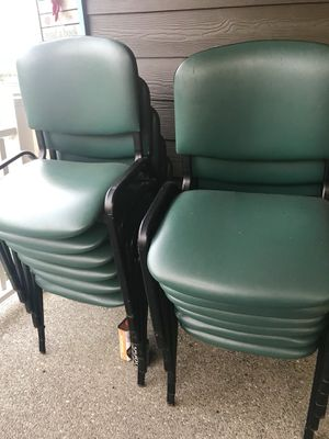 15 Stackable Chairs with 6 Tables for Sale in Kent, WA