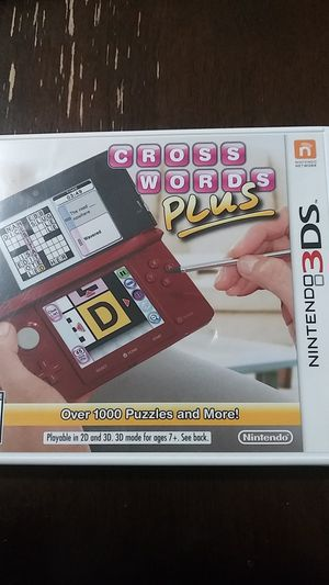 NINTENDO 3DS Cross words plus for Sale in Queens, NY