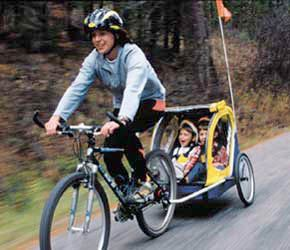 Burley Bee bike trailer for 2