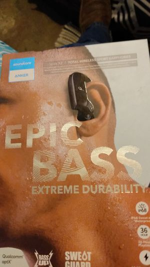 Anker epic bass Bluetooth ear buds for Sale in Belleville, IL