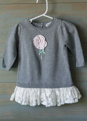 Baby Girl Hartstrings sweater dress with lace 3-6M for Sale in Chula Vista, CA