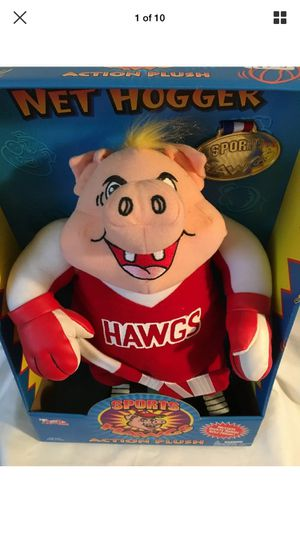 Sports Hawgs NET HOGGER Hockey Action Plush Buddy Toy Box Collections 1998 for Sale in Escondido, CA