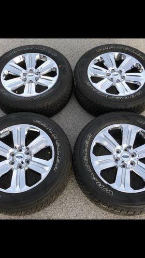 "New 20"" Ford Platinum Rims and Hankook All Terrain Tires 6 Lug F150 20 Rines y llantas 2017 F 150 Expedition 2016 F-150 rine 2019 llantas 2013 y 201 for Sale in Dallas, TX"