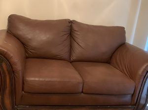 Huge size two sitter leather couch or loveseat for Sale in Marietta, GA