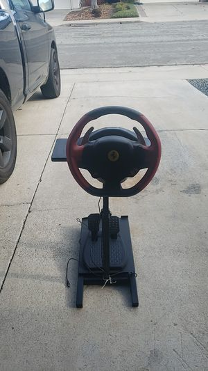 Thrustmaster Ferrari wheel and pedals xbox with stand for Sale in San Juan Capistrano, CA