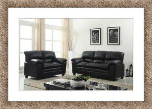 Black sofa and love seat bonded free delivery for Sale in Crofton, MD