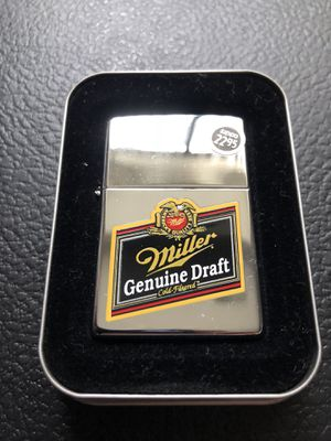 Vintage Miller beer zippo for Sale in Clinton Township, MI