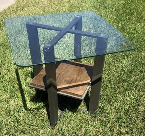 UNIQUE! Metal & glass table! Sturdy! for Sale in Oceanside, CA