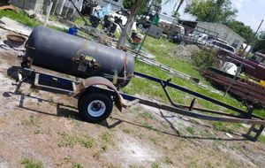 Tank and metal trailer for Sale in Wahneta, FL