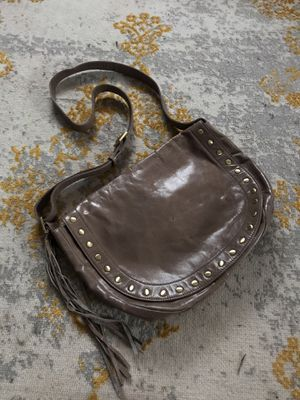 HOBO Grey Leather Bag for Sale in Highland Beach, MD