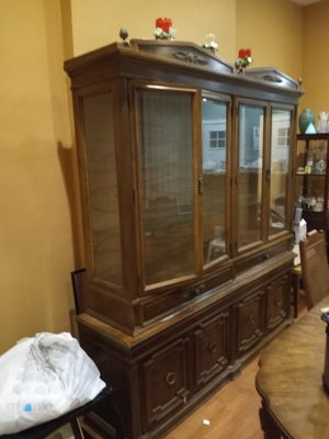 Antique China cabinet and table for Sale in Philadelphia, PA