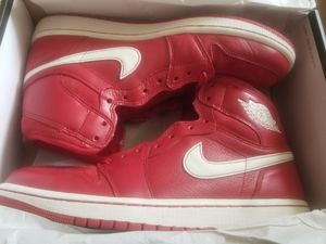 Rare Nike Air Jordan 1 High Gym Red 2014 European Edition sz 9.5 Lightly Worn for Sale in Baltimore, MD
