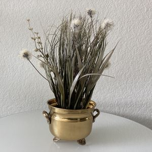 Small Boho Brass Pot with Artificial Grasses (Removable) for Sale in Scottsdale, AZ