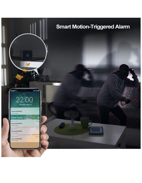 Camera Mini Spy Camera Indoor WiFi 1080P HD Wireless Portable Small Nanny Cam with Two-Way Audio and Night Vision Motion Detection IP Security Camer
