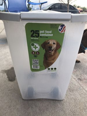 Dog food storage container for Sale in Colorado Springs, CO