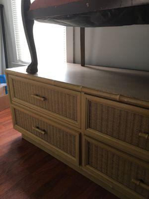 Wicker and wood dresser for Sale in Villa Rica, GA