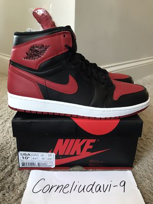2013 Nike Air Jordan 1 BRED size 10.5 for Sale in Raleigh, NC