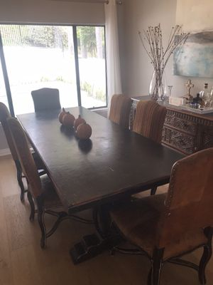 Dining Table Only (Chairs Sold Separately), Mission, Restoration Hardware Inspired) for Sale in Anaheim, CA