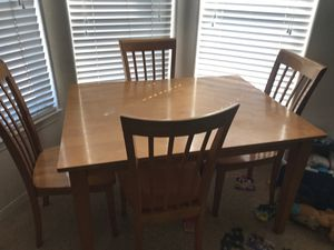 Kitchen table with 4 chairs. Table is 3' W x 4' L for Sale in Poway, CA