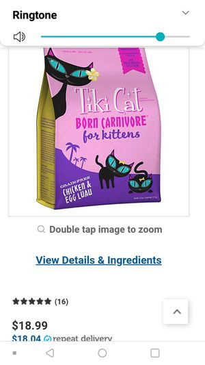 Tiki Cat for kittens Ckicken and Egg Luau for Sale in Davis, CA