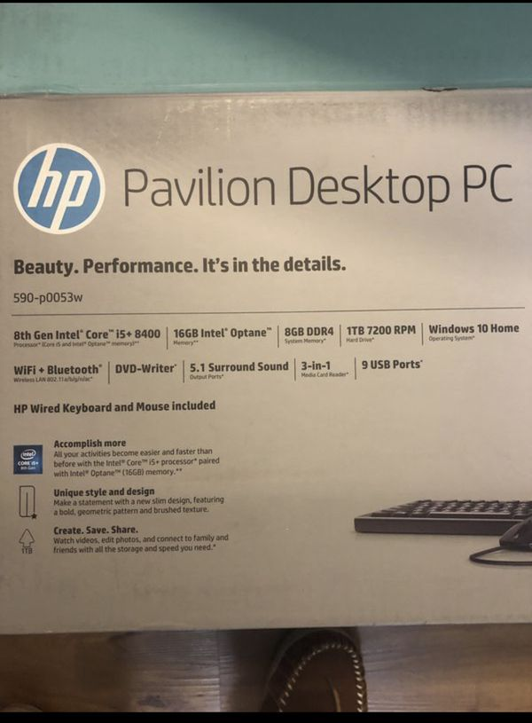 HP PAVILION LIKE NEW, Includes LG monitor mouse and keyboard!!!!! No box.