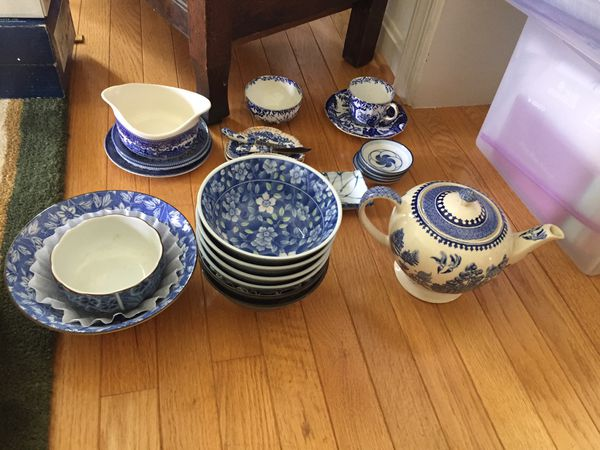 Misc Blue Dishes Grandmothers Attic