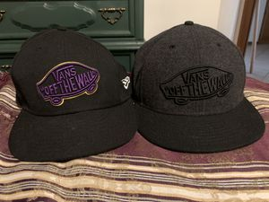 Boys vans hats size 7 1/4 not adjustable for Sale in Hillsboro, OR