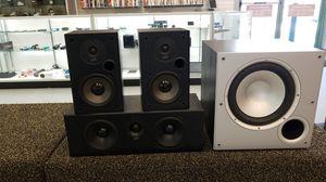 Polk audio 4 piece home theater speaker set for Sale in Phoenix, AZ