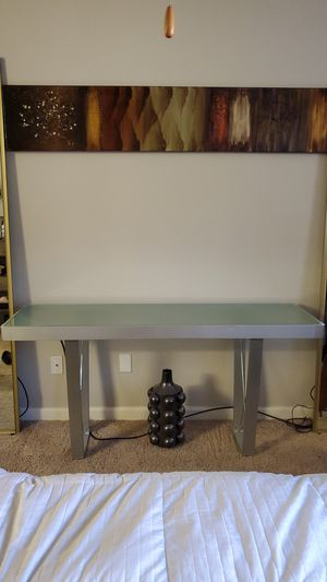 Contemporary modern Glass console table for Sale in Scottsdale, AZ