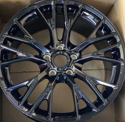 GM OEM Gloss Black Corvette C7 Z06 ZO6 Wheels Rims Rines Grandsport for Sale in Compton,  CA