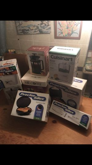 Small kitchen appliances 8 in total All new unused for Sale in Jersey City, NJ