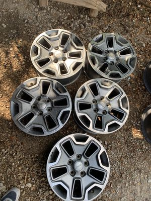 Jeep Wrangler wheels 17 inch rubicon for Sale in Mesquite, TX