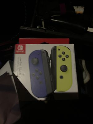 Joy con brand new switch Nintendo brand new blue yellow for Sale in Kent, WA