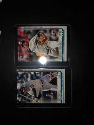MLB 2019 TOPPS Opening day Yankees duo baseball cards (Aaron Judge/Luis Severino) for Sale in ROWLAND HGHTS, CA