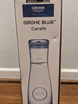 Grohe Blue Glass Carafe $30 Pick Up Only for Sale in Long Beach,  CA