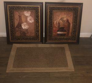2 flower & vase framed paintings. for Sale in Marietta, GA