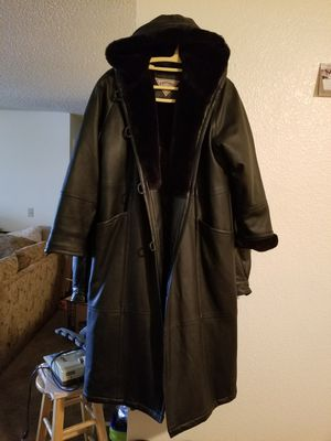 Women's Leather Hooded Trenchcoat/ Parka $100 for Sale in Las Vegas, NV
