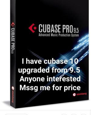 Cubase 10 pro upgraded from 9.5 pro for Sale in Saint Paul, MN