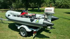 2003 zodiac 14' Inflatible boat Mark II Future 30HP Johnson outboard & Trailer VGC low hours for Sale in Egg Harbor Township, NJ