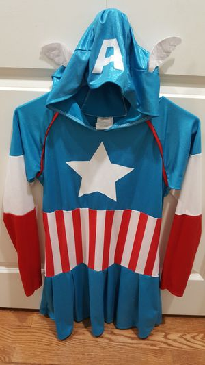 Captain America Dress/ Costume, Size XL kids ( for girl 8 - 10 years old.) Perfect condition! for Sale in Everett, WA