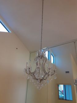 chandelier with crystal stones for Sale in Pompano Beach,  FL