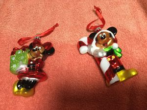 Disney sketchbook mickey and minnie blown glass ornaments. Retired 2014 for Sale in Port Richey, FL