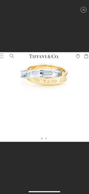 Tiffany & Co. gold and silver interlocking ring for Sale in Los Angeles, CA
