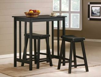 Dina Espresso 3-Piece Counter Height Table Set for Sale in Riverdale Park,  MD